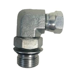 "3/4"" x 1/4"" 90 Degree Swivel O-Ring Fitting"