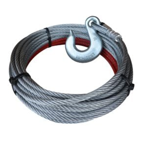 "3/8"" Wire Rope Cable with Slip Hook for PIERCE Winches"